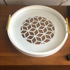 White decorative tray